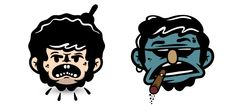 Faces & Stickers on Behance