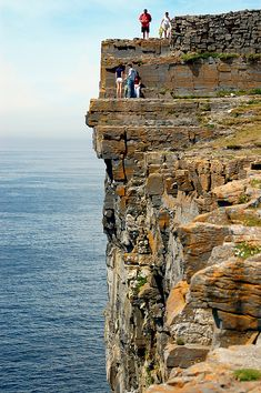 Dun Aengus is a ancient stone fort which sits high on a cliff in Inishmore, Ireland