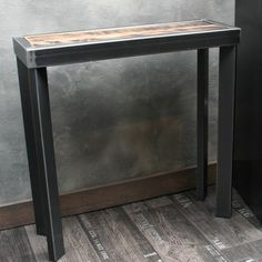 Console métal brut Design   Consoles, Wood steel and Industrial