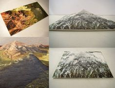 Topographic Photo Sculptures Created by Stacking Prints