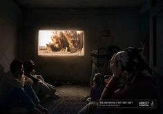 """An impressive well done and strong ad campaign for Amnesty International by Ogilvy Frankfurt under the slogan """"You can't switch off war!"""". It's about how we all have become much too used to images of war and violence. It is…"""