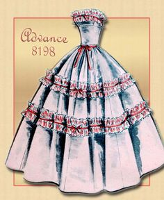 Different Color Combo: 1950s Dress Pattern Advance 8198 Strapless Prom and Party Also Day Dress with Bolero. $15.00, via Etsy.