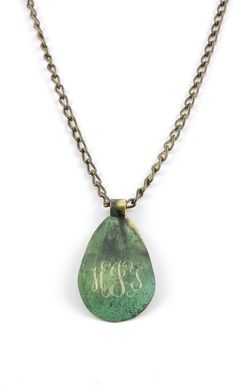 Ironworks Teardrop Pendant  $18.00 (chain sold separate)