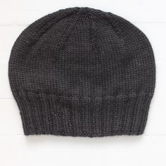 The only black watch cap/beanie you'll ever need...unisex...100% baby alpaca...soft, warm and light. MMMM!