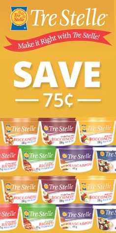 #Save 75 cents on Tre Stelle #Cheese