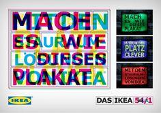 Plakat von Thjnk für die Stauraumlösungen von Ikea