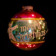 Antique Glass Christmas Ornaments...