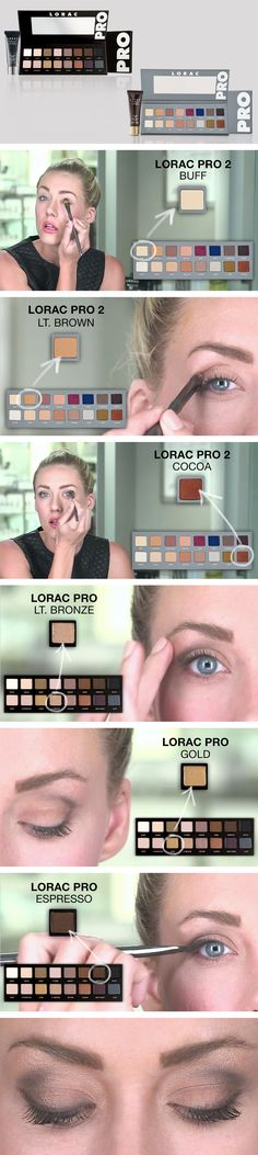 LORAC PRO Palette and PRO Palette 2 perfect daytime smoky eye tutorial. Click through to see the full tutorial and get the new palette here: http://ulta.ps/a423qu
