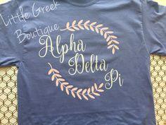 V Neck Greek t shirt ADPi shirt kappa delta by LittleGreekBoutique