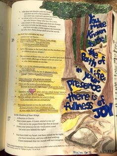Psalm 16 #joy #bibleartjournaling #journalingbible #illustratedfaith