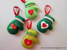 Vanessa Biali: Enfeites em Feltro para Árvore de Natal