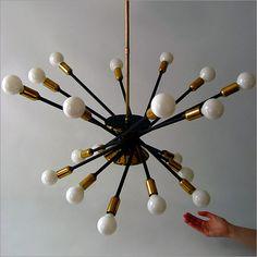 Stilnovo MID Century Modern Design Sputnik Chandelier Pendent Lamp Eames ERA | eBay