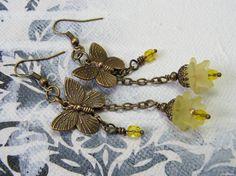 Ohrhänger - Zitronenfalter - ein Designerstück von Gentle-Breeze bei DaWanda