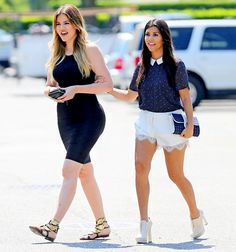 Khloe Kardashian and Kourtney Kardashian film scenes for Kourtney & Khloe Take The Hamptons on June 3.