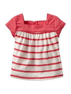 Square-neck stripe top