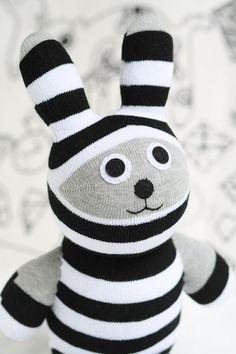 Handmade Large Bunny stuffed animal toys  little girl gift sock doll stuffed animal dolls Home Decor