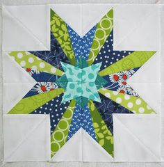 Lovely Oregon Star by Lee Heinrich of Freshly Pieced.