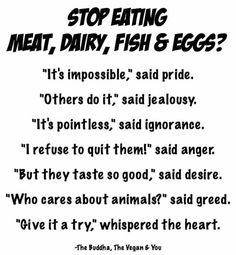 I think this might just be my all time favorite vegan quote.
