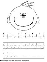 Free line tracing worksheets to work towards handwriting. 3yr old zig-zags/curves/straight