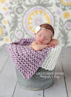 Knit Mini Blankets Baby Wrap Newborn Photography Prop