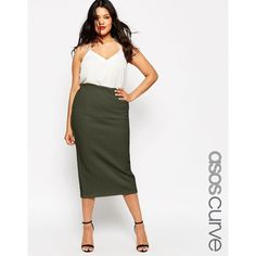 ASOS CURVE Midi Pencil Skirt In Cable Texture found on Polyvore featuring polyvore, fashion, clothing, skirts, khaki, plus size, plus size skirts, bodycon midi skirt, bodycon pencil skirt and bodycon skirt