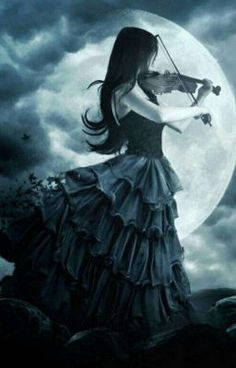 Dark and mysterious in the woods playing music as if it were magic Dark Gothic Art, Gothic Fantasy Art, Fantasy Art Women, Fantasy Art Angels, Scary Drawings, Gothic Wallpaper, Scary Art, Beautiful Fantasy Art, Fantasy Photography