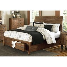 Magnussen B2375 River Ridge Wood Island Bed w/ Storage | Overstock.com Shopping - The Best Deals on Beds
