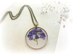 Alyssum Maritimum botanical necklace by GBILOBA from Spain