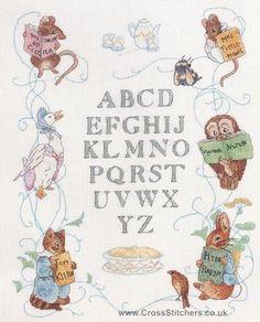 Peter Rabbit Cross Stitch Patterns   Peter Rabbit Centenary Sampler - Beatrix Potter Cross Stitch Kit