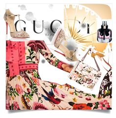 """""""Presenting the Gucci Garden Exclusive Collection: Contest Entry"""" by sanidaskrebo ❤ liked on Polyvore featuring Gucci, Yves Saint Laurent, Christian Louboutin and gucci"""