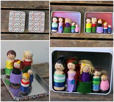 Magnetic peg dolls.  So cute!