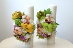 Flowers of Soul: Lumanari de botez Baptism Candle, Pillar Candles, Easter, Table Decorations, Business, House, Home Decor, Candles, Decoration Home