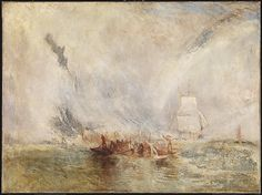 """Joseph Mallord William Turner, (British, 1775-1851). Whalers, ca. 1845. Tate, London. Accepted by the nation as part of the Turner Bequest, 1856 (N00545) 