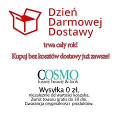 Darmowa Wysyłka przez cały rok! Takie cuda tylko w Cosmo24.pl  #dziendarmowejdostawy #darmowawysylka #esklep #sklepinternetowy #shopping