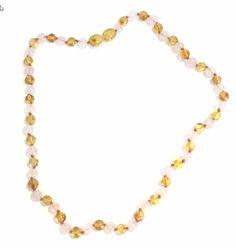Adult amber and rose quartz necklace Amber Earrings, Stud Earrings, Quartz Necklace, Beaded Necklace, Baltic Amber Teething Necklace, Amber Gemstone, Anklets, Handmade Necklaces, Rose Quartz