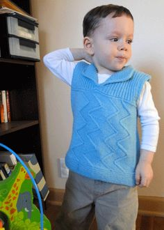 Free Knitting Pattern - Toddler & Children's Clothes: Zingo V-Neck Vest