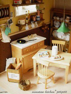 miniature*house 完成 : natural色の生活~handmade家具
