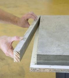 Cast a cement countertop - Home