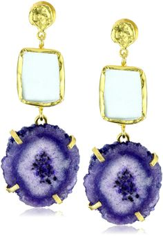 Dramatic dangle earrings made with druzy stones. They certainly make a statement, don't they?