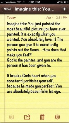 """This is so true. So many women in today's society are downtrodden, beaten physically, mentally & emotionally. We need to get into the Bible, God's word & remind ourselves & others we were made perfect in His sight...<3"""