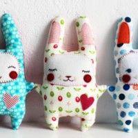 Eu amo costurar | Molde – Almofada de coelho