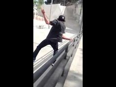 Major parkour fail. You never turn your back on the cliff buddy