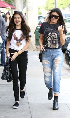 Kylie Jenner those Jeans and yeezus tour shirt....... Perfection ...