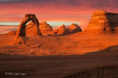 Delicate Arch Sunset Light