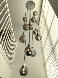 Pin on Reimersbeek Staircase Lighting Ideas, Stairway Lighting, Entrance Lighting, Home Lighting, Architectural Lighting Design, Modern Lighting Design, Outdoor Chandelier, Chandelier Lighting, Chandelier Staircase