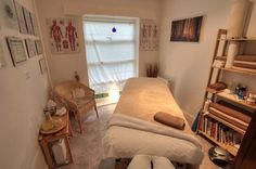 Massage Treatment Room Rememeber In the home office not to OVER do. don't clutter.