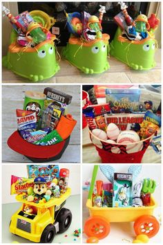 12 Creative Easter Basket Ideas for kids. Make the most creative Easter basket. Boys Easter Basket, Easter Bunny, Easter Eggs, Easter Table, Easter Food, Easter Baskets For Toddlers, Oster Dekor, Easter 2020, Festa Party