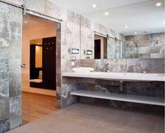 Extravagante Fliesen in den Toilettanlagen Master Bath, Alcove, Bathroom Lighting, Bathtub, Mirror, Furniture, Home Decor, Home, Wall Panelling