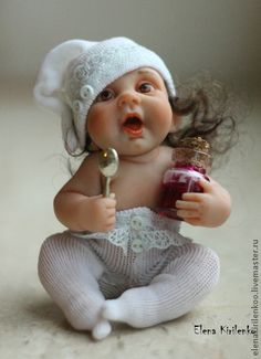 Realistic Baby Dolls By Russian Artist Elena Kirilenko Pretty Dolls, Cute Dolls, Beautiful Dolls, Tiny Dolls, Ooak Dolls, Stuffed Animals, Realistic Baby Dolls, Lifelike Dolls, Baby Fairy