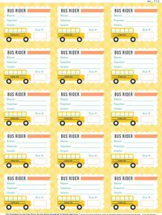 School Days Printables & Labels part 1 | Worldlabel Blog